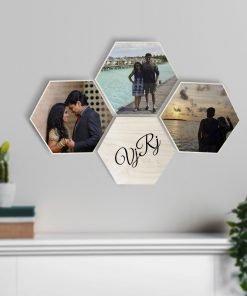 Hexagon Wooden print