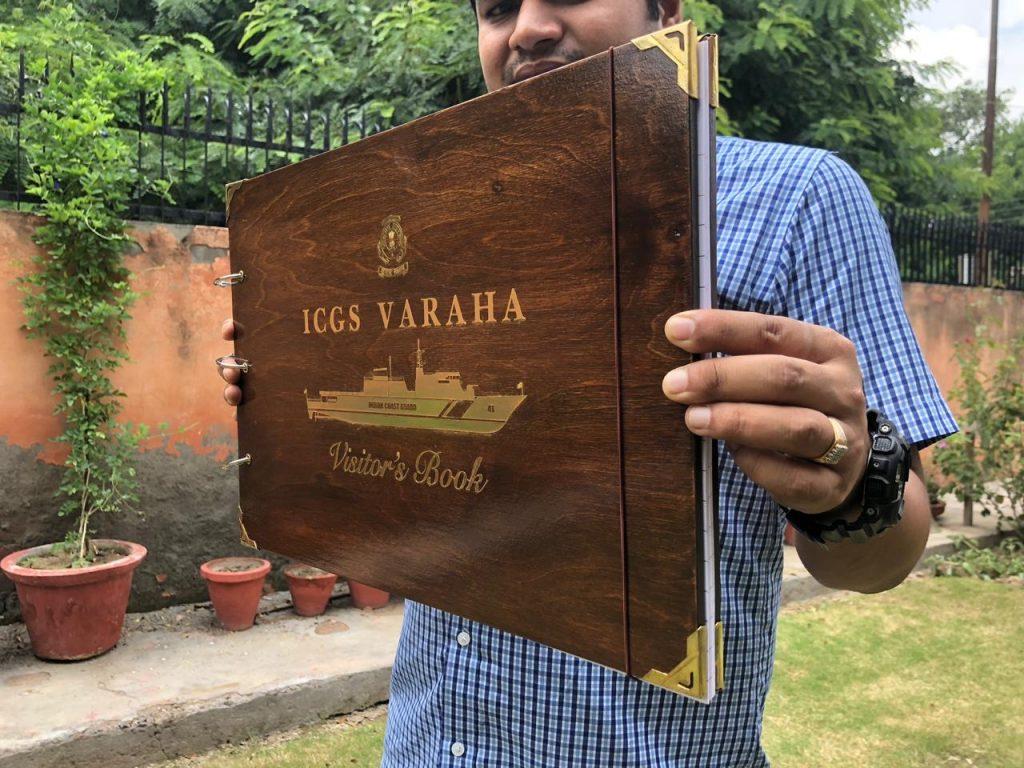 ICGS Varaha 24k gold inlay Visitor Book