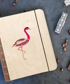 Flamingo Wooden diary_3