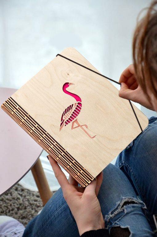 Flamingo Wooden diary_1