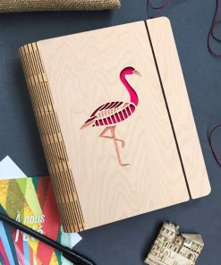 Flamingo Wooden diary_2