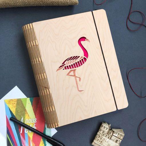 Flamingo Wooden diary_2