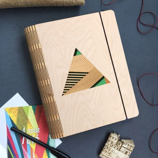 Geometric Wooden diary_2