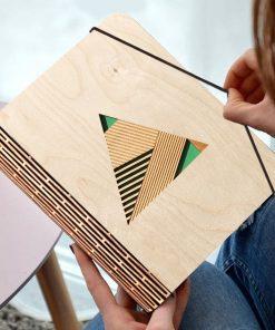Geometric Wooden diary_1