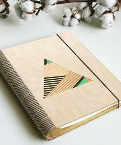 Geometric Wooden diary