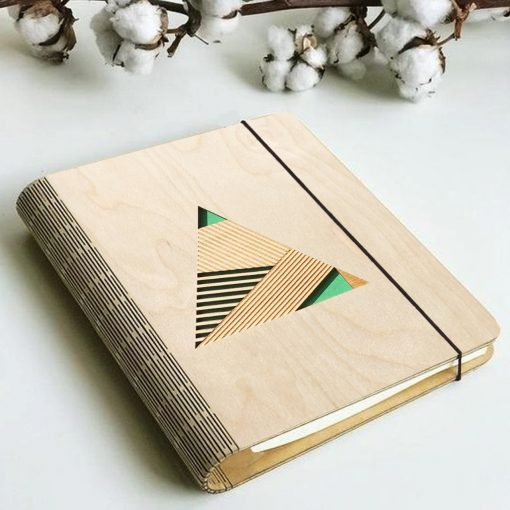 Geometric Wooden diary