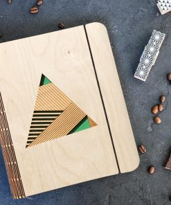 Geometric Wooden diary_3