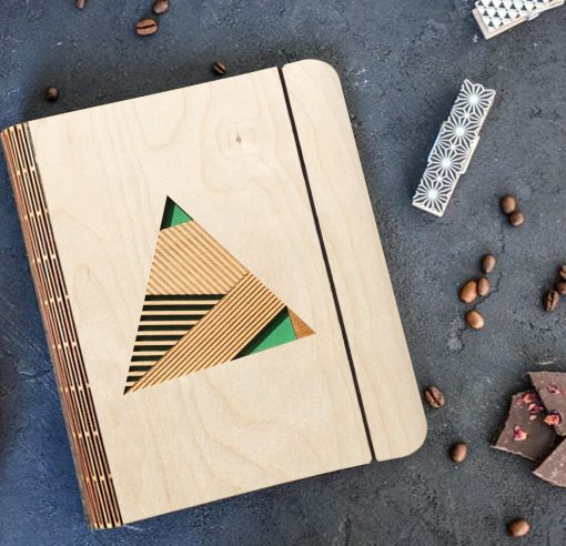 Geometric Wooden diary_3