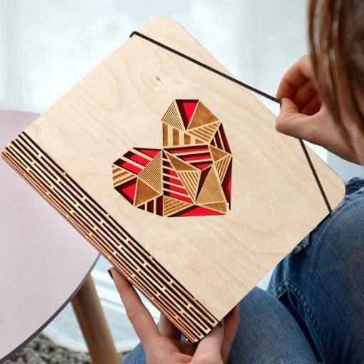 Wooden diary Heart 2