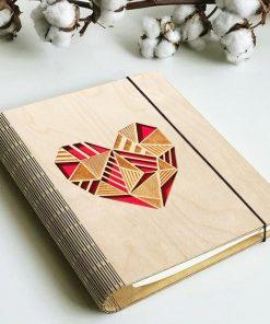 Heart Wooden diary