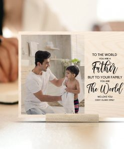 father custom print on wood