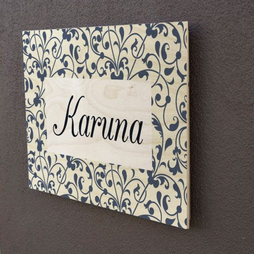 Personalised Wooden Name Plate-2