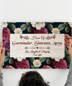 Personalised Name Plate Home