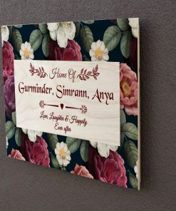 Wooden wall art nameplate