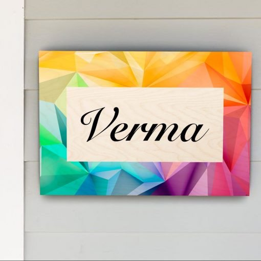 Modern Stylish Family Name Plate