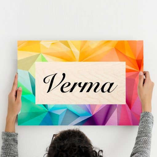 Stylish Family Name Plate Wall