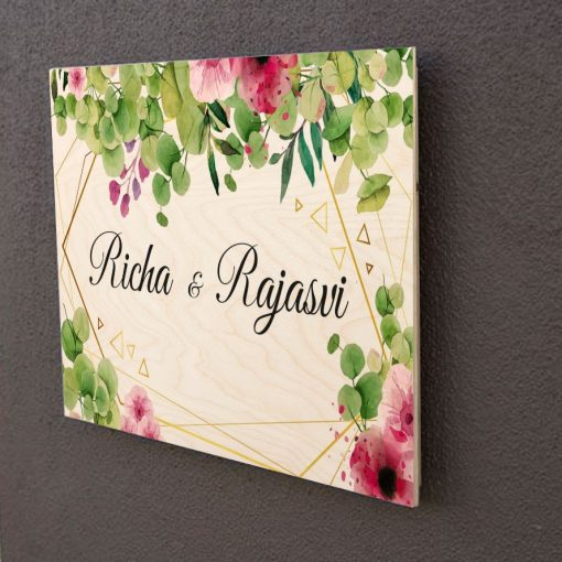 Wooden Customised Nameplate-1