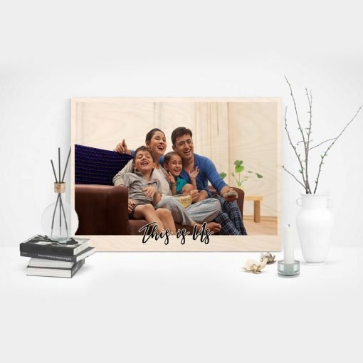 personalised family print on wood