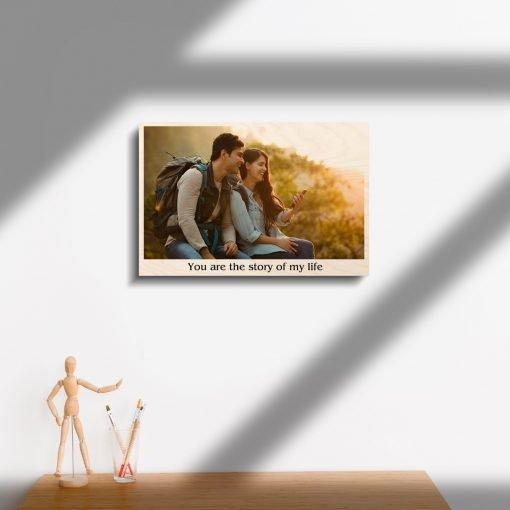 wood print couple