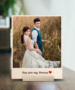 couple wooden print