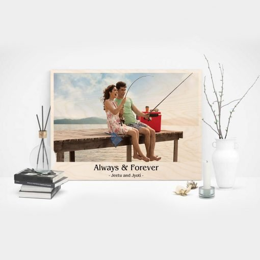 Personalised Wooden print couple