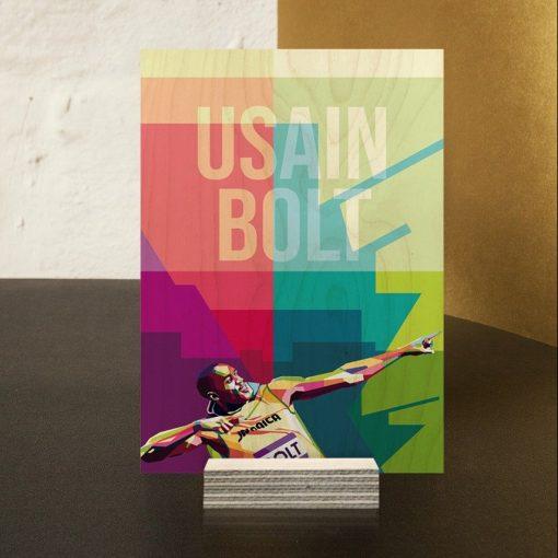Usain Bolt Wood Print-5