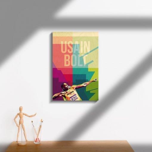 Usain Bolt Wood Print-3