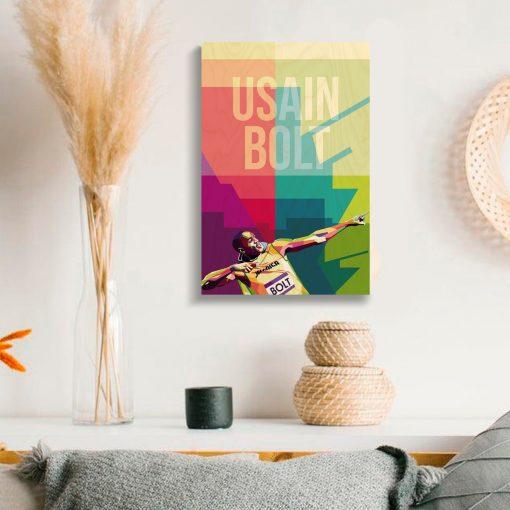 Usain Bolt Wood Print-4