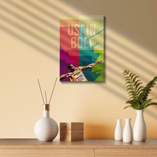 Usain Bolt Wood Print-1