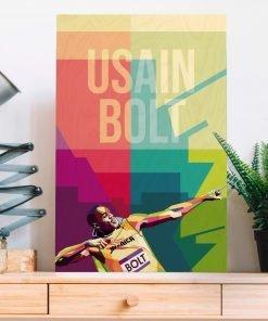 Usain Bolt Wood Print-2