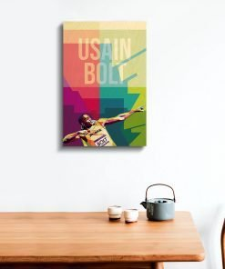 Usain Bolt Wood Print