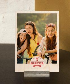 Personalised Sister Wood Print