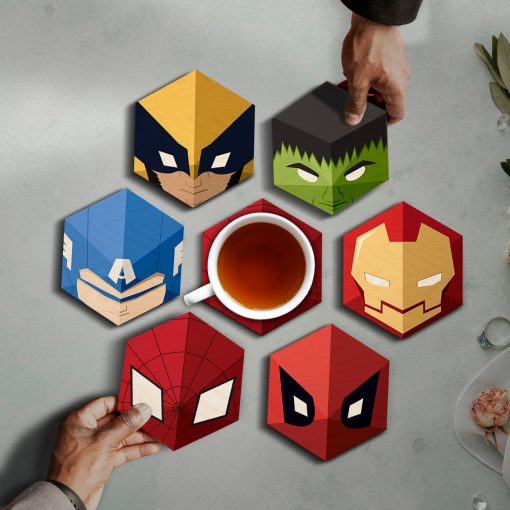 Super hero coasters